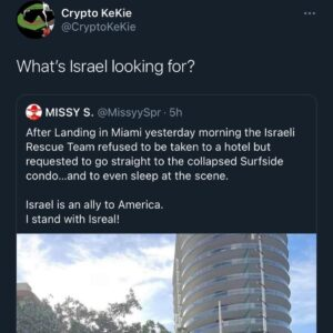 Read more about the article It's a little sus that the Israeli team is there. Like what are you looking for?