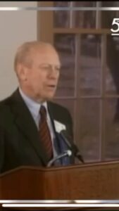 Read more about the article President Gerald Ford predicts the first female president will come via Vice Pre