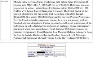 Read more about the article #BREAKING  Judge orders a new status conference for 10/26/2021 in the case again