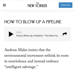 Read more about the article The @NewYorker is now encouraging and training radical leftists how to blow up