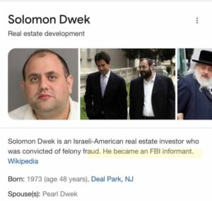 Read more about the article Solomon Dwek  Person of interest  – FBI informant