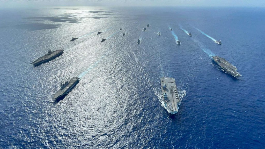 """You are currently viewing """"Four Carriers & escorts in the Pacific? Why is that relevant? …  The calm bef"""