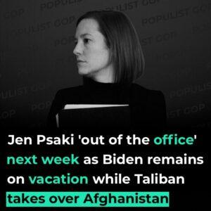 Read more about the article Fox News:  White House Press Secretary Jen Psaki is taking a break from her duti