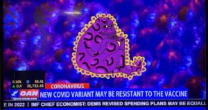Read more about the article End times confirmed.  OANN: NEW COVID VARIANT MAY BE RESISTANT TO THE VACCINE  H